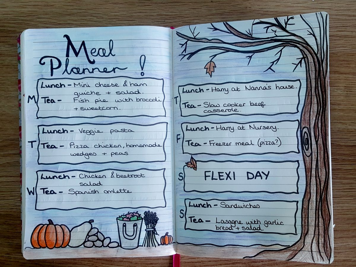 Our first Meal Plan for October
