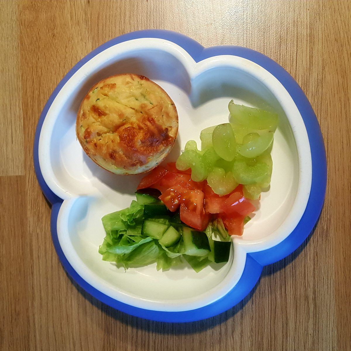 Carrot and courgette savoury muffins
