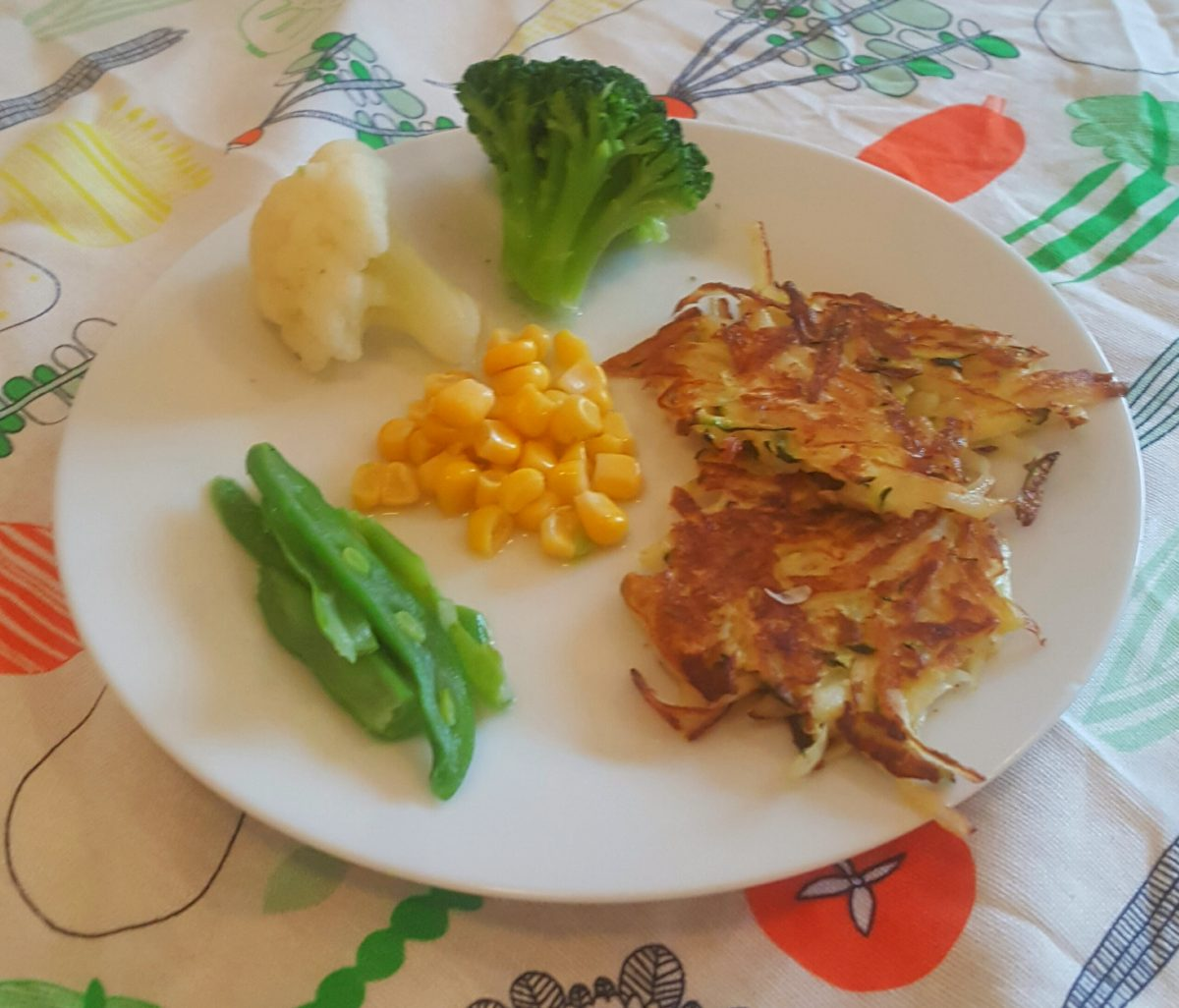 Potato and courgette fritters