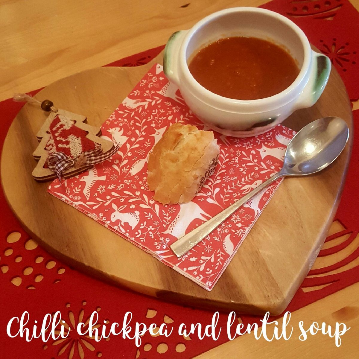 Chilli chickpea and lentil soup