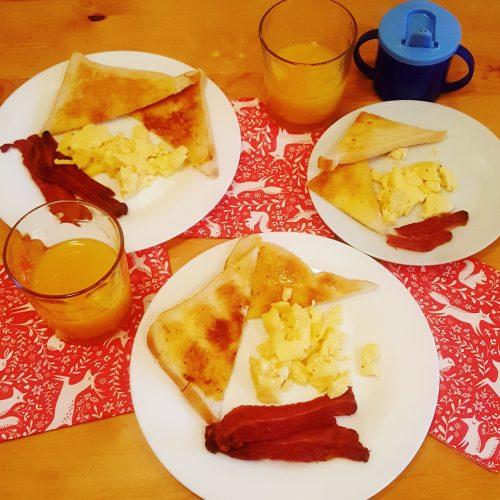 week before Christmas road trip breakfast of champions