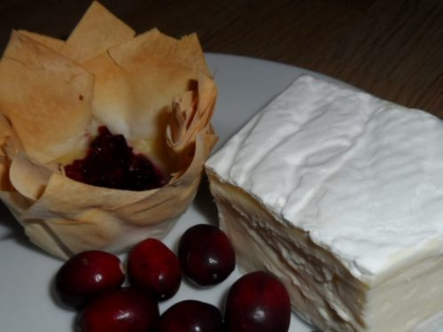 brie and cranberry tart