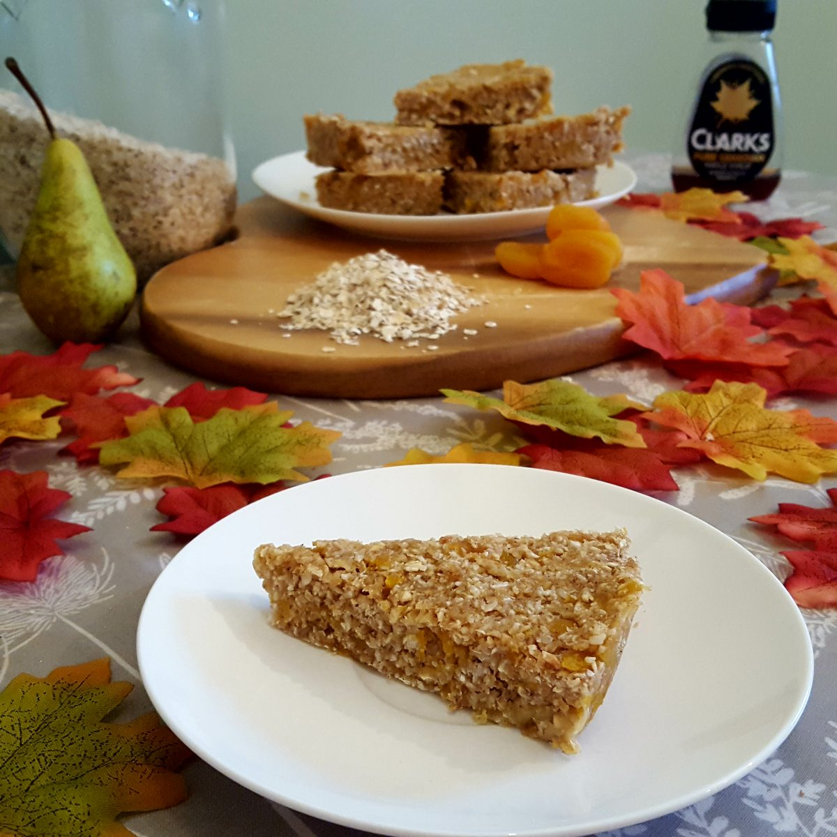 Spiced apple and pear slice