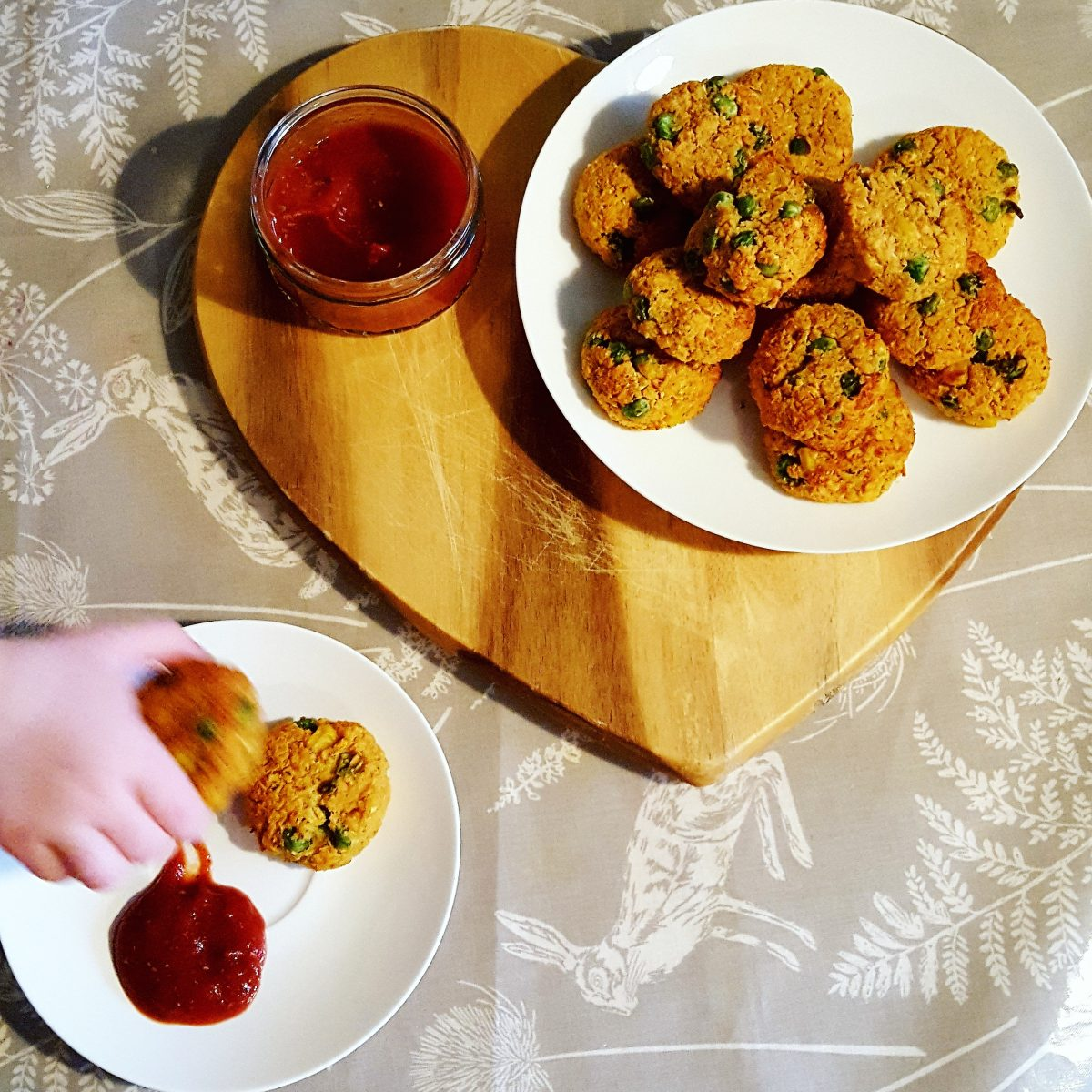 Veggie Lentil Nuggets and Homemade Tomato Sauce