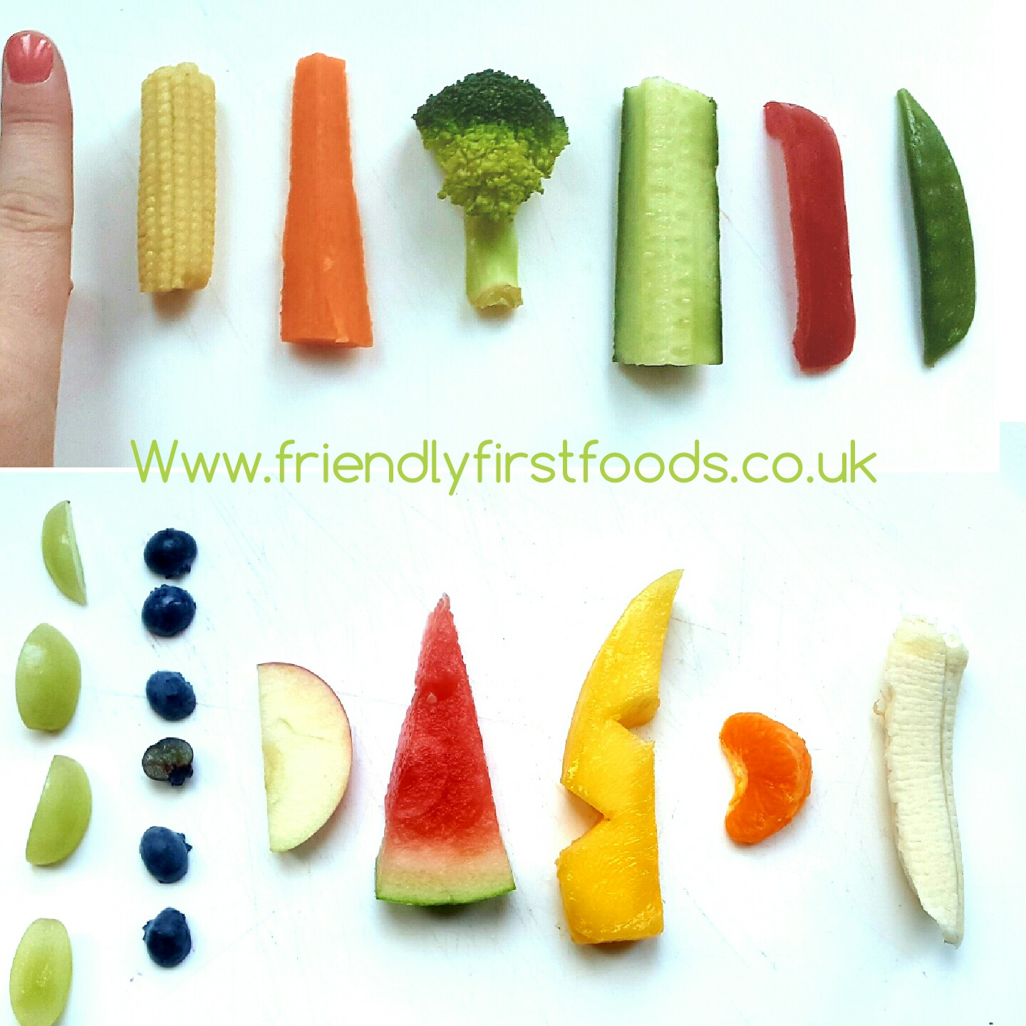 Finger food size guide and a really useful banana hack ...